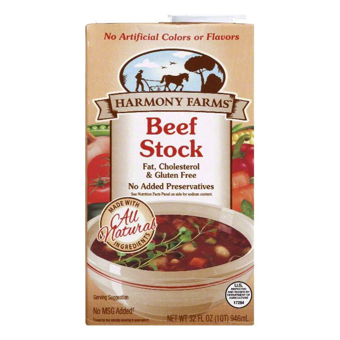 Harmony Farms Beef Stock, 32 FO (Pack of 12)