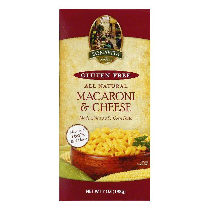 Bonavita Macaroni & Cheese Pasta, 7 OZ (Pack of 12)