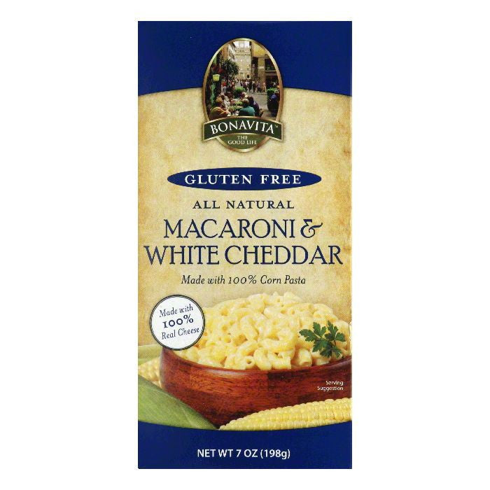 Bonavita Macaroni & White Chedder Pasta, 7 OZ (Pack of 12)