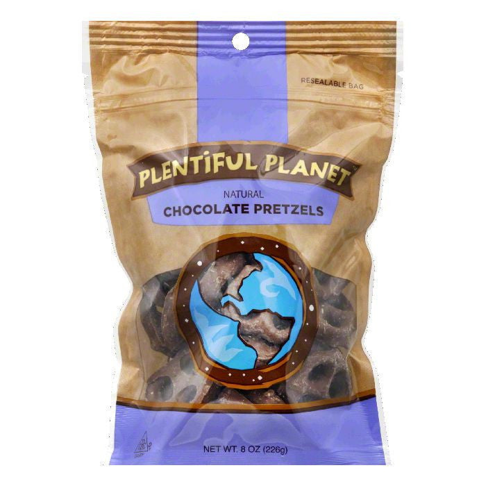 Plentiful Planet Chocolate Pretzel Bag, 10 OZ (Pack of 6)