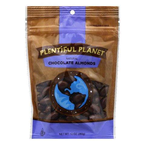 Plentiful Planet Chocolate Almond Bag, 10 OZ (Pack of 6)