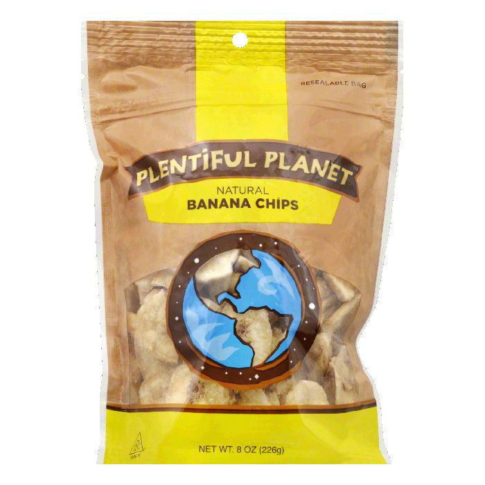 Plentiful Planet Banana Chip Fruit Bag, 10 OZ (Pack of 6)
