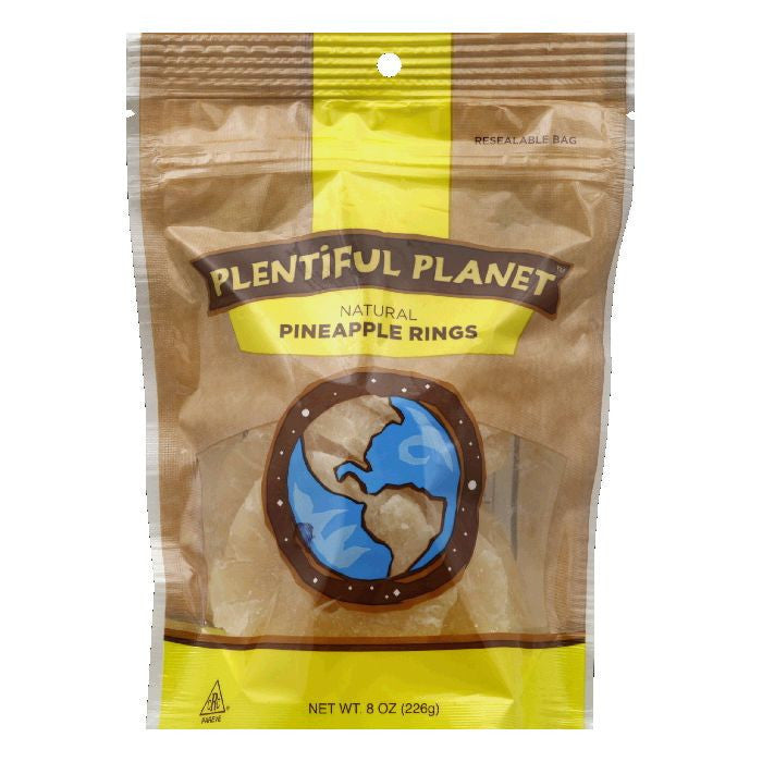 Plentiful Planet Pineapple Ring Fruit Bag, 10 OZ (Pack of 6)