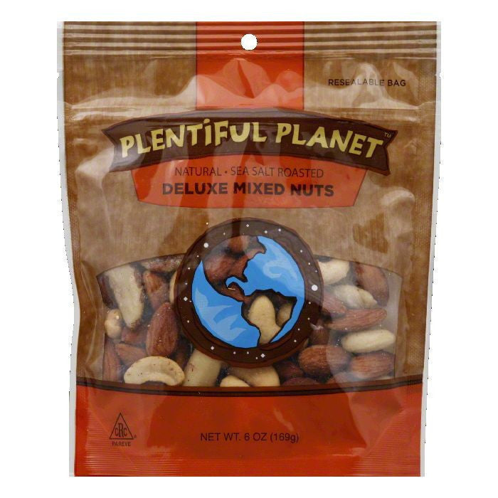Plentiful Planet Deluxe Mix Nut Bag, 6 OZ (Pack of 6)