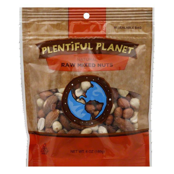 Plentiful Planet Raw Mix Nut Bag, 6 OZ (Pack of 6)