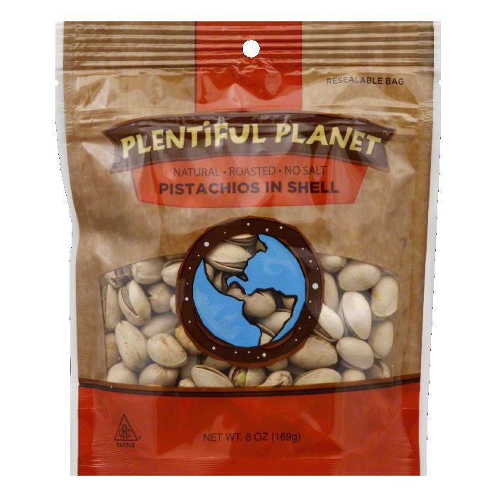 Plentiful Planet Roasted In Shell Pistachios, 6 OZ (Pack of 6)