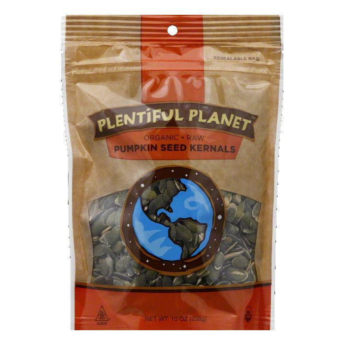 Plentiful Planet Organic Pumpkin Seed Kernals, 10 Oz (Pack of 6)