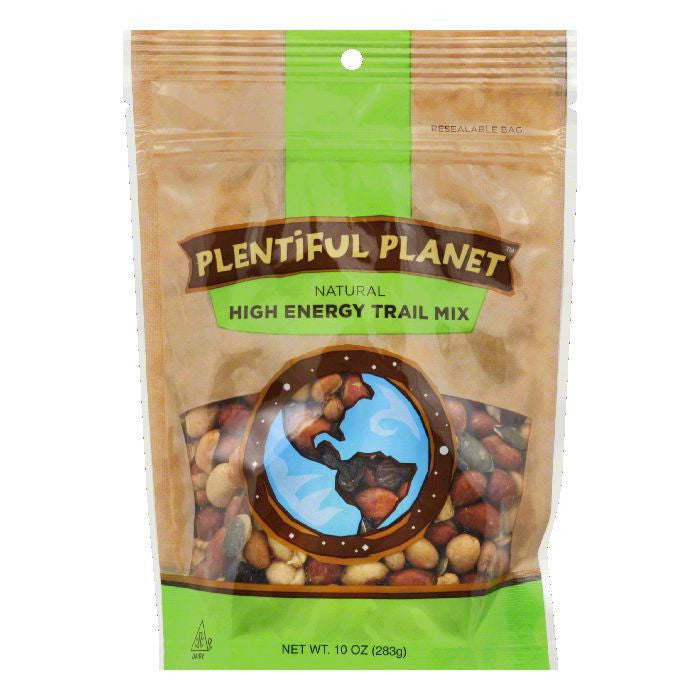 Plentiful Planet High Energy Trail Mix Bag, 10 OZ (Pack of 6)
