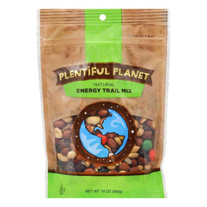 Plentiful Planet Trail Mix Energy Bag, 10 OZ (Pack of 6)