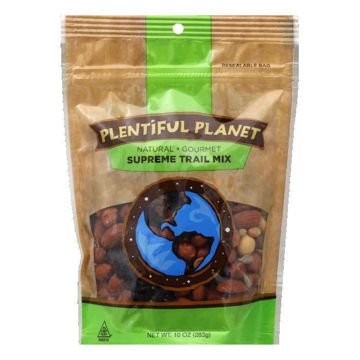 Plentiful Planet Gourmet Supreme Trail Mix Bag, 10 OZ (Pack of 6)