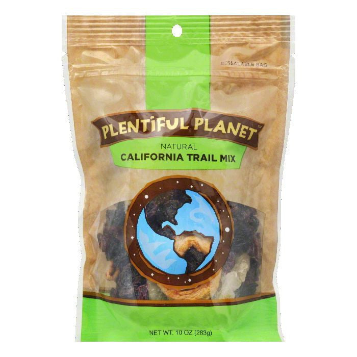 Plentiful Planet California Style Trail Mix Bag, 10 OZ (Pack of 6)
