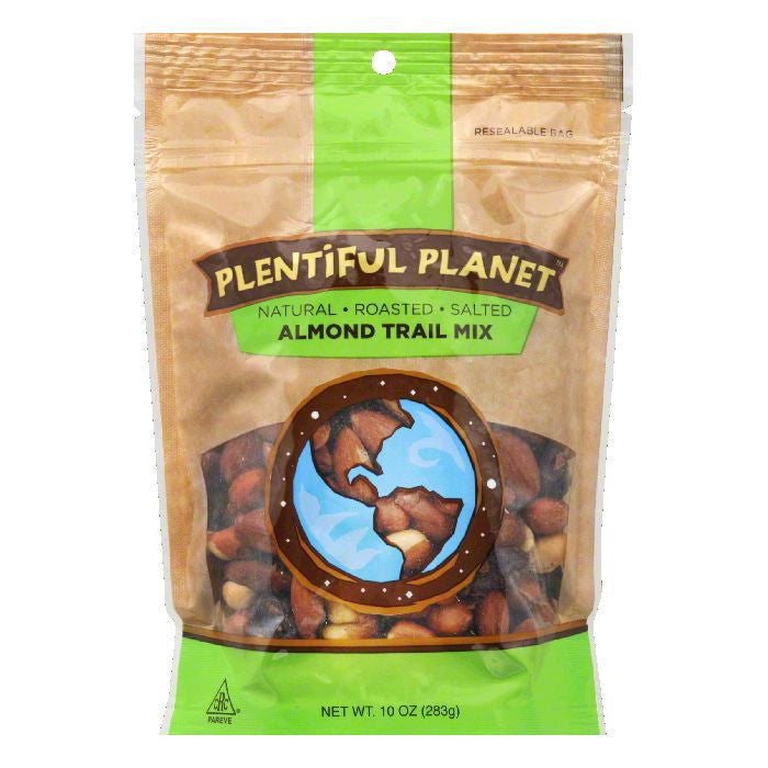 Plentiful Planet Roasted Almond Trail Mix Bag, 10 OZ (Pack of 6)