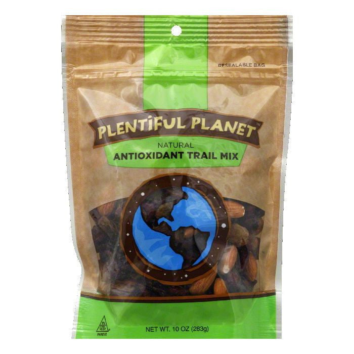 Plentiful Planet Antioxidant Trail Mix Bag, 10 OZ (Pack of 6)