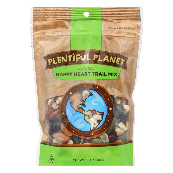 Plentiful Planet Happy Heart Trail Mix Bag, 10 OZ (Pack of 6)