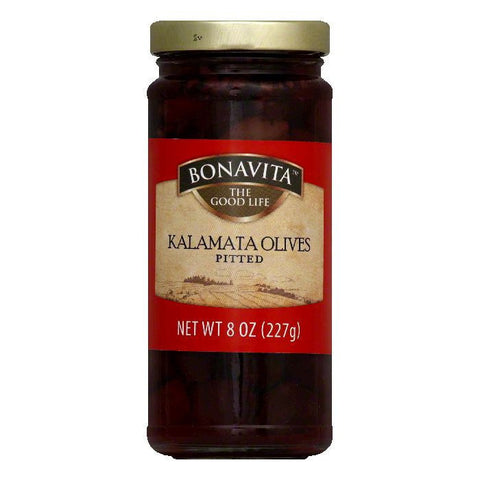 Bonavita Kalamata Pitted Olive, 8 OZ (Pack of 6)
