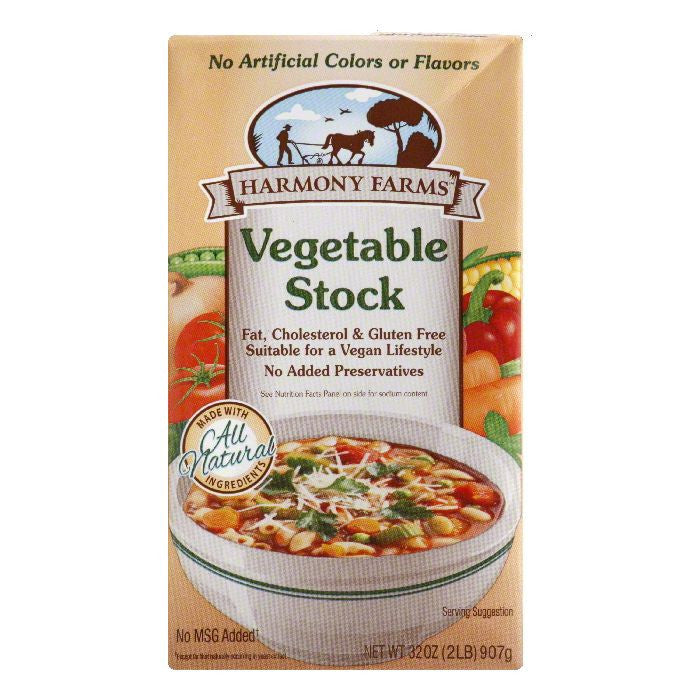 Harmony Farms Vegetable Stock, 32 FO (Pack of 12)
