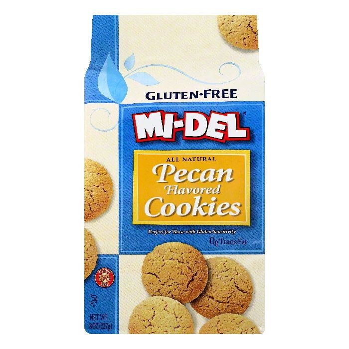Mi del Pecan Flavored Gluten-Free Cookies, 8 OZ (Pack of 8)