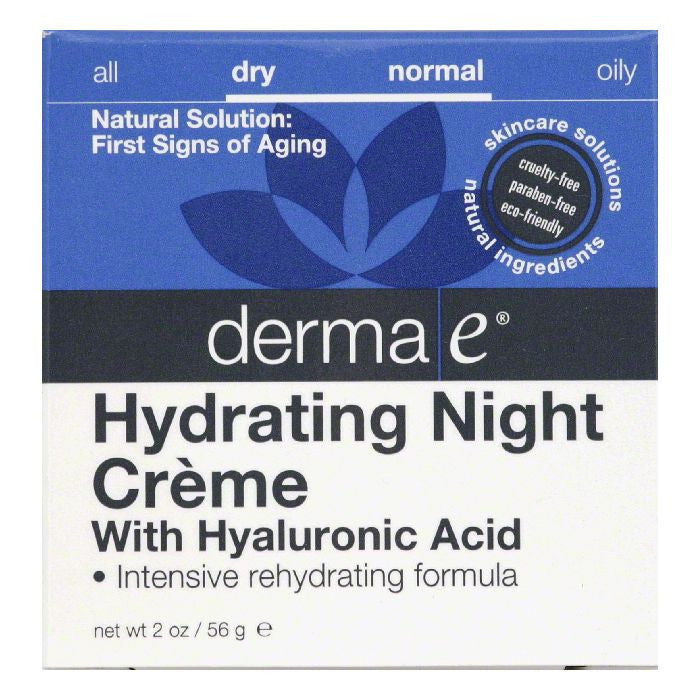 Derma E Dry/Normal with Hyaluronic Acid Hydrating Night Creme, 2 Oz
