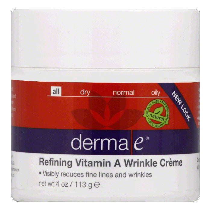 Derma E Treatment Cream Vit A Wrinkle, 4 OZ
