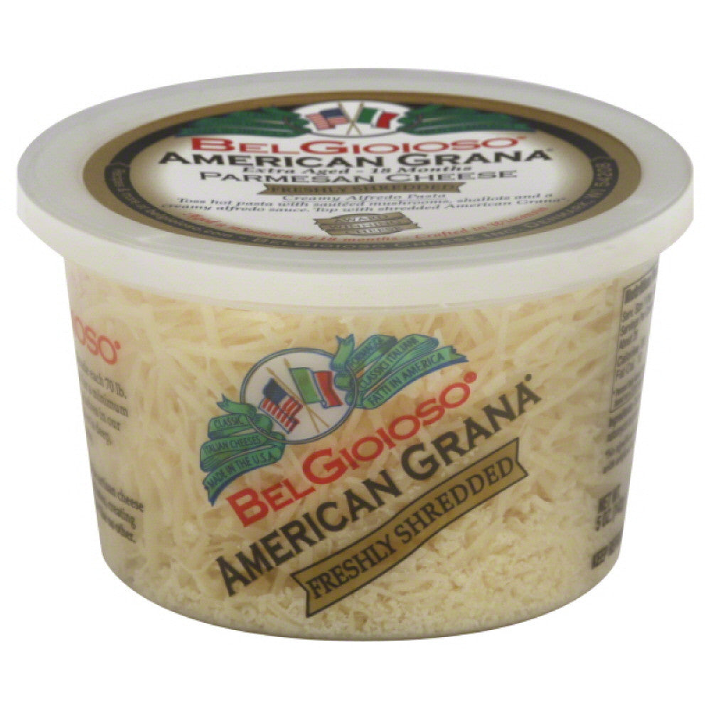 Belgioioso Parmesan American Grana Freshly Shredded Cheese, 5 Oz (Pack of 12)