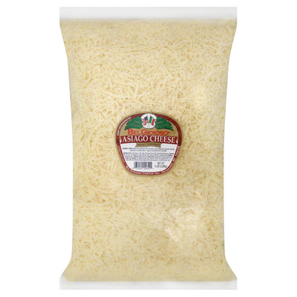 BelGioioso Asiago Shredded Cheese, 5 Lb (Pack of 4)