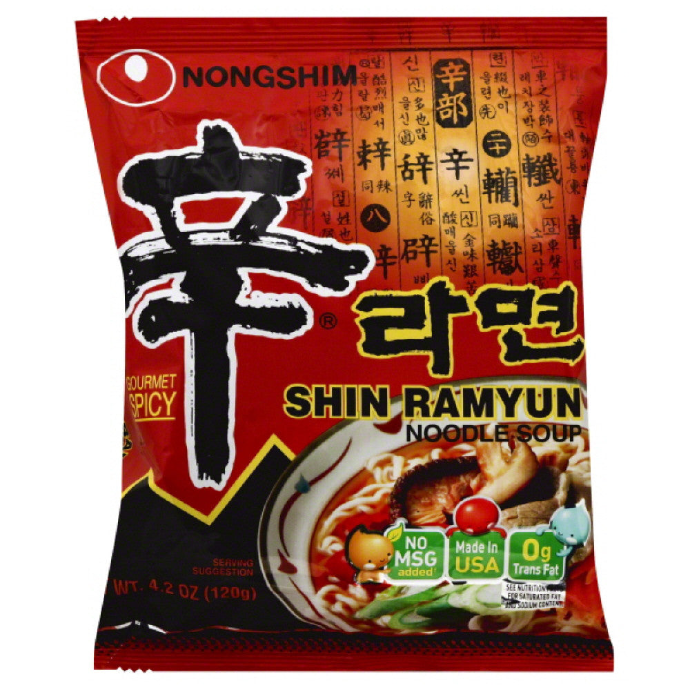 Nongshim Gourmet Spicy Shin Ramyun Noodle Soup, 4.2 Oz (Pack of 10)