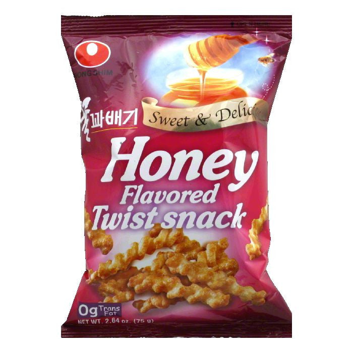 Nong Shim Honey Flavored Twist Snacks, 2.64 Oz (Pack of 20)