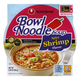 Nong Shim Noodle Bowl Spicy Shrimp, 3.03 OZ (Pack of 12)