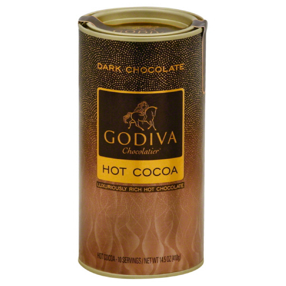 Godiva Chocolatier Dark Chocolate Hot Cocoa, 13.1 Oz (Pack of 12)
