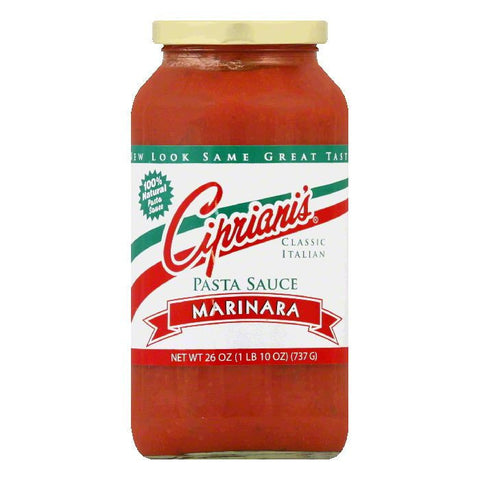 Cipriani's Pasta Original Spaghetti Sauce Meatless, 26 OZ (Pack of 6)