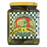 Tony Packo Thin Sliced Pickles & Pepppers, 24 OZ (Pack of 6)