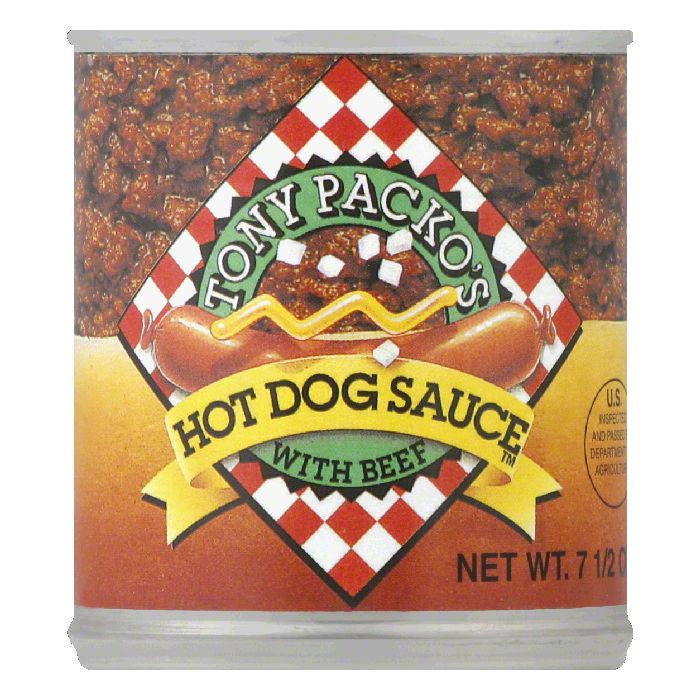 Tony Packo Hot Dog Sauce, 7.5 OZ (Pack of 12)