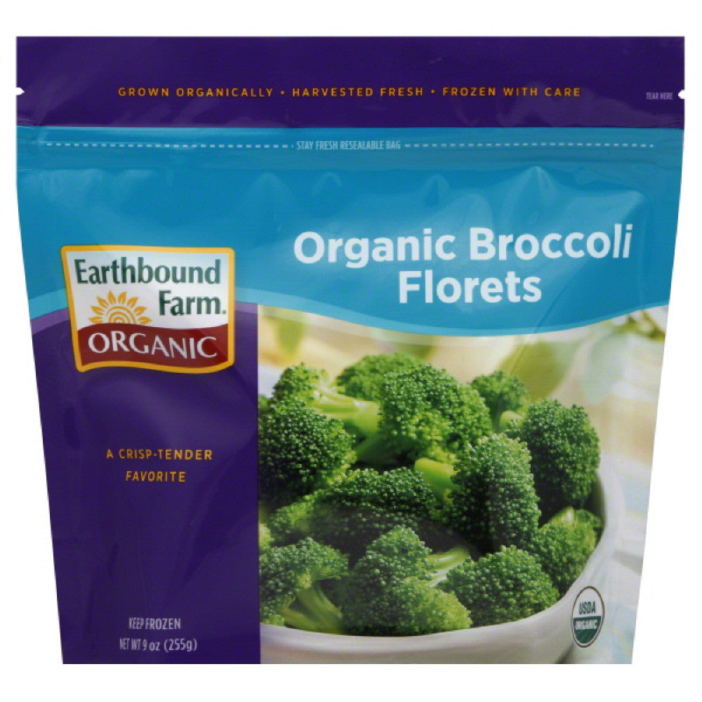 Earthbound Farm Organic Broccoli Florets, 9 Oz (Pack of 12)