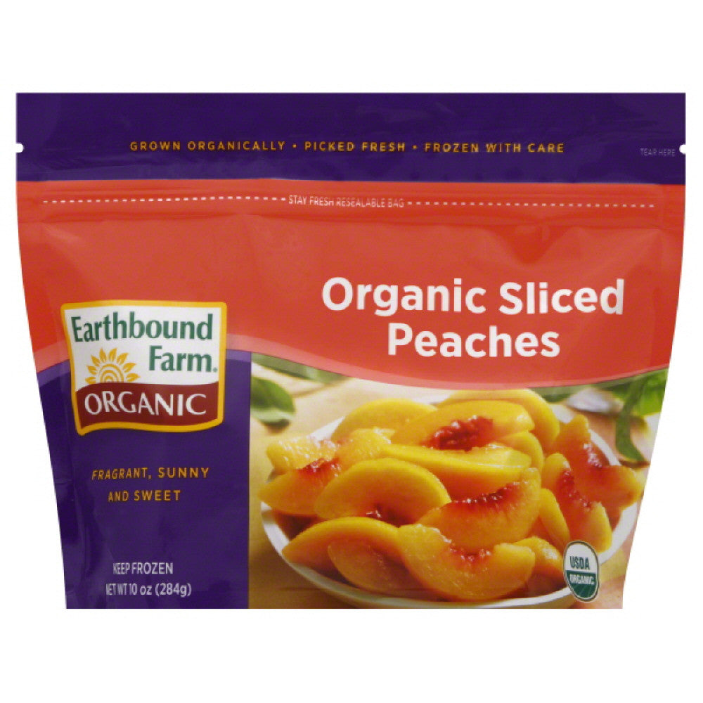Earthbound Farm Sliced Organic Peaches, 10 Oz (Pack of 12)