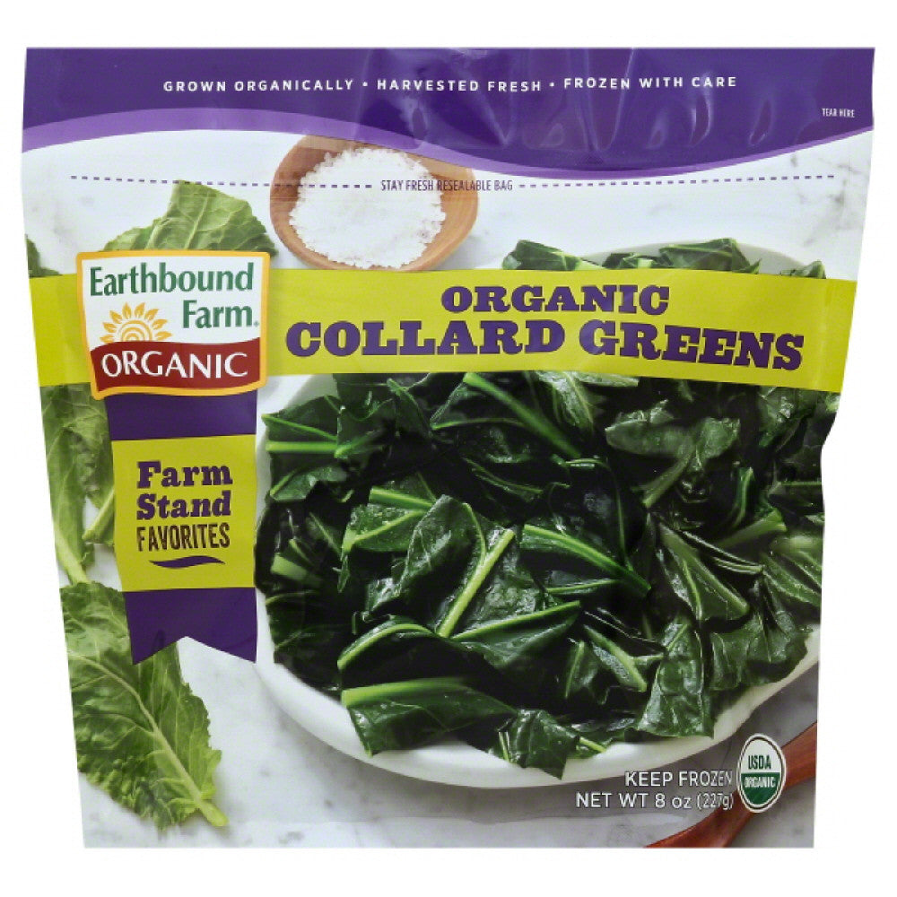 Earthbound Farm Collard Greens, 8 Oz (Pack of 12)