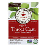 Traditional Medicinals Caffeine Free Throat Coat Organic Herbal Tea, 16 ea (Pack of 6)
