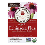 Traditional Medicinals Wrapped Tea Bags Organic Echinacea Plus Herbal Tea, 16 ea (Pack of 6)