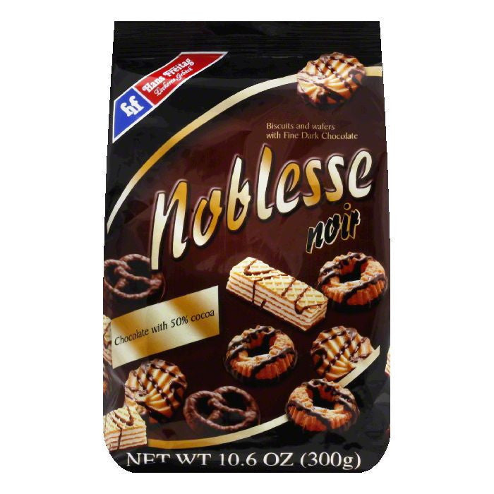 Hans Freitag Noblesse Noir Cookie, 10.6 OZ (Pack of 10)