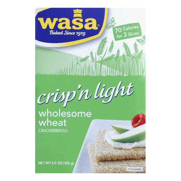 Wasa Whls Crisp'n Light Crispbread, 4.9 OZ (Pack of 10)