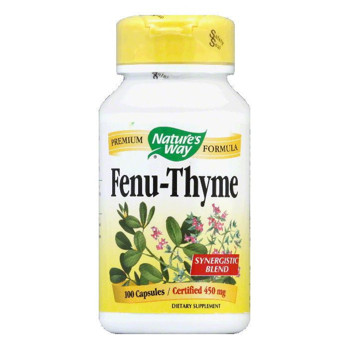 Natures Way Capsules Certified 450 mg Fenu-Thyme, 100 ea