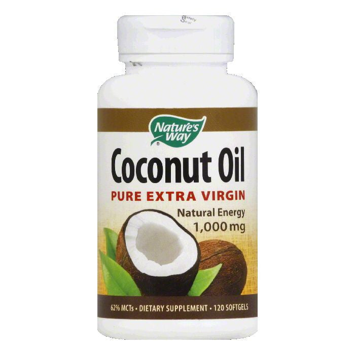 Natures Way Softgels 1000 mg Coconut Oil, 120 ea
