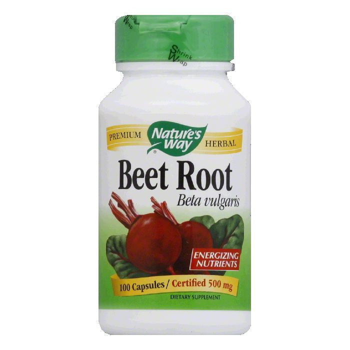 Natures Way Capsules 500 mg Root Beet, 100 ea