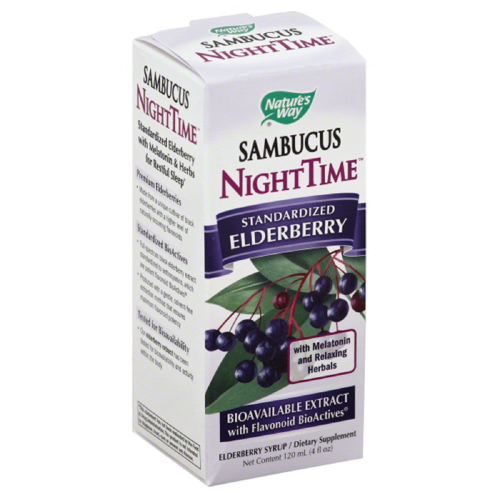 Natures Way Syrup NightTime Standardized Elderberry, 4 Oz