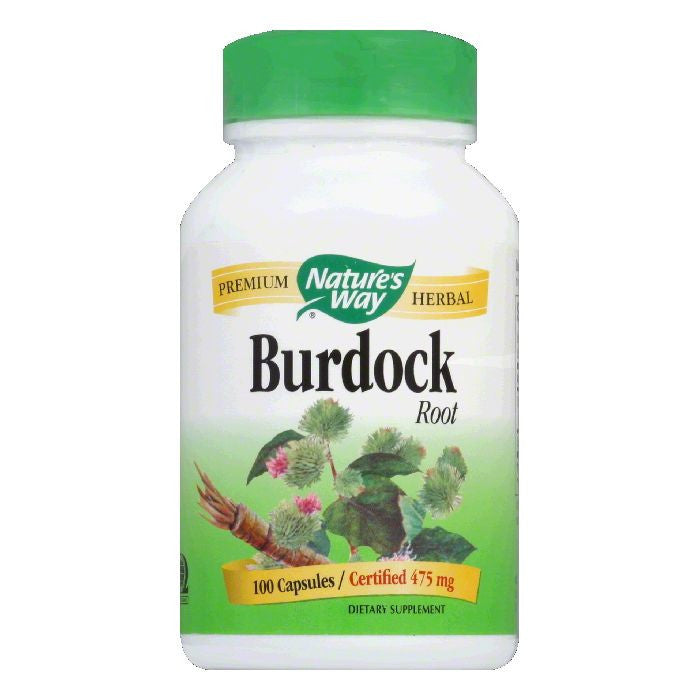 Natures Way Capsules 475 mg Burdock Root, 100 CP
