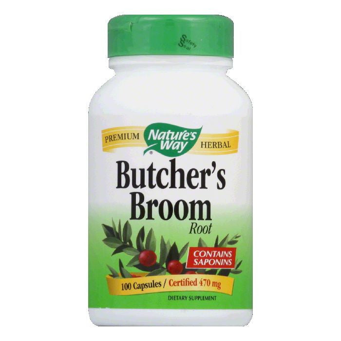 Natures Way Capsules 470 mg Butcher's Broom Root, 100 ea