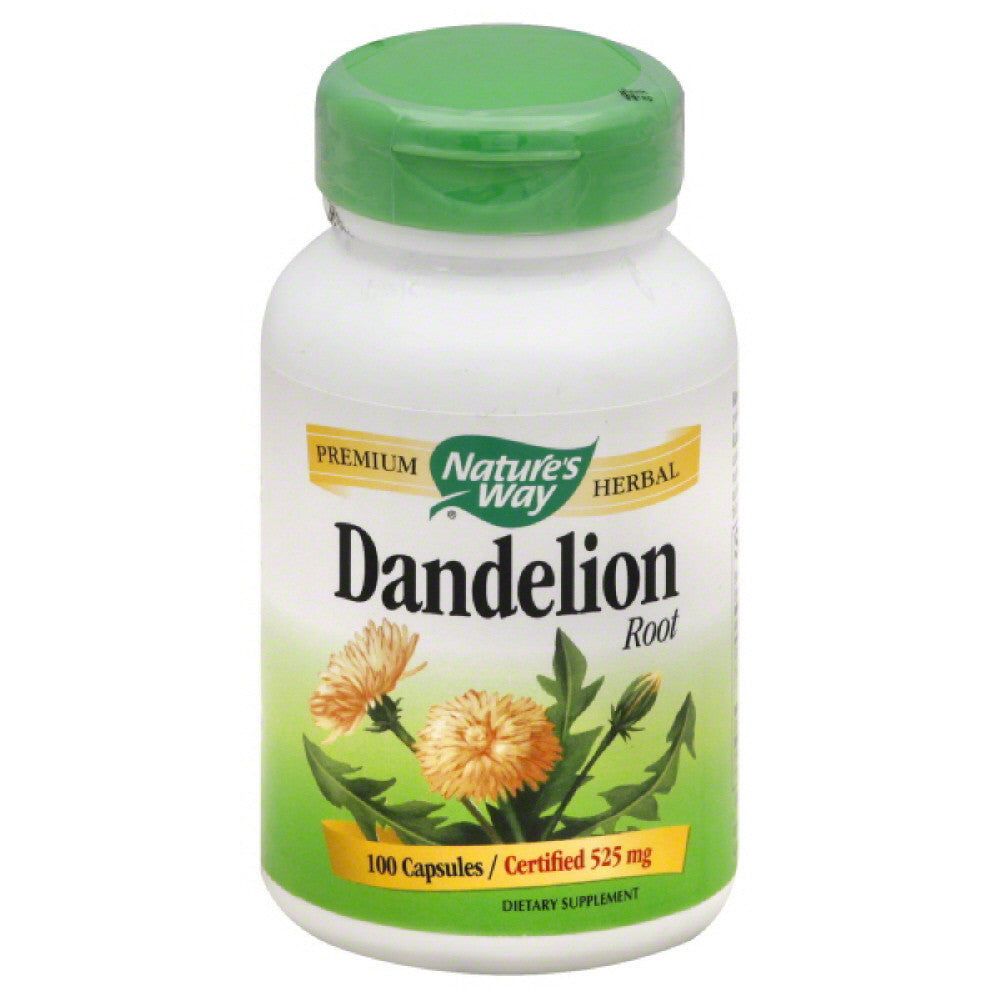 Natures Way 525 mg Dandelion Root Capsules, 100 Cp