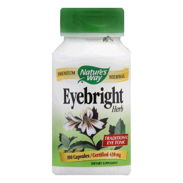 Natures Way Capsules 430 mg Eyebright Herb, 100 ea