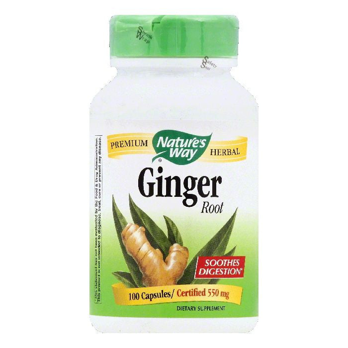 Natures Way Capsules 550 mg Ginger Root, 100 ea