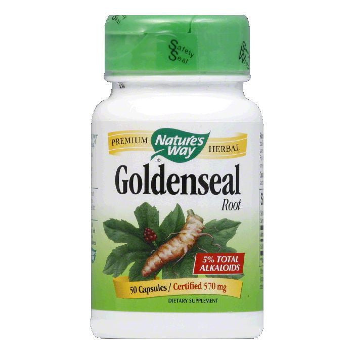 Natures Way Capsules 570 mg Root Goldenseal, 50 ea