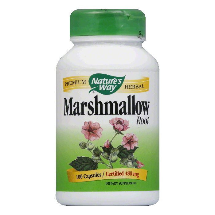 Natures Way Capsules Certified 480 mg Marshmallow Root, 100 ea